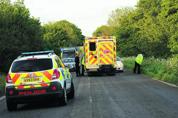 This Is Wiltshire: Emergency services at the scene of the incident