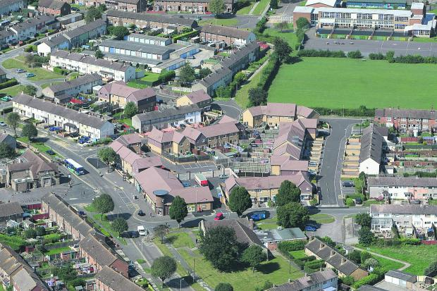 This Is Wiltshire: An aerial view of Penhill Drive. Penhill Primary can be seen top right