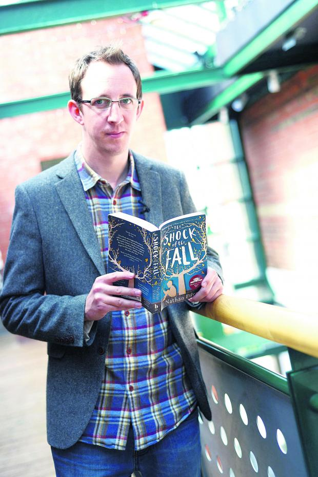 This Is Wiltshire: Nathan Filer with his book The Shock Of The Fall