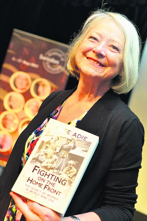 This Is Wiltshire: Kate Adie with her new book at the literature festival yesterday
