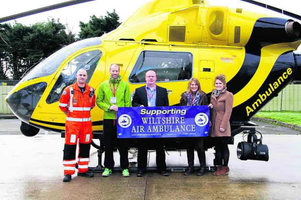 This Is Wiltshire: From left to right are paramedics Matt Baskerville and Richard Morgans, and Andrew Genever, Sue Rav