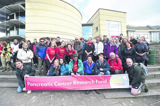 This Is Wiltshire: Friends and family of Kerry Palmer walked for Pancreatic Cancer Research  (DV1292) B