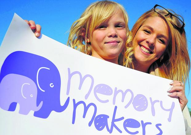 This Is Wiltshire: Lucy with Michelle at the launch of the Memory Makers' project