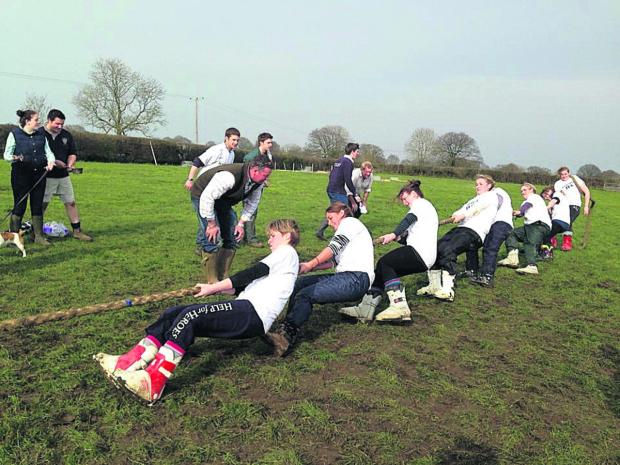 This Is Wiltshire: Main picture, Malmesbury YFC women win the tug of war title.
