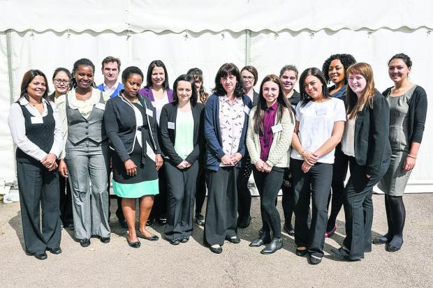 This Is Wiltshire: Student nurses attending Great Western Hospital's recruitment day