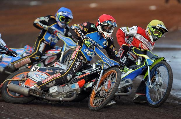 This Is Wiltshire: Swindon's Troy Batchelor goes inside King's Lynn's Rory Schlein last night