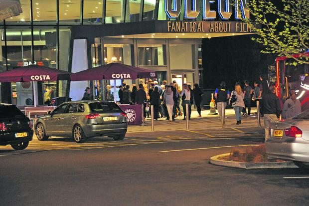 This Is Wiltshire: Cinema goers are allowed back into the building after the fire alarm
