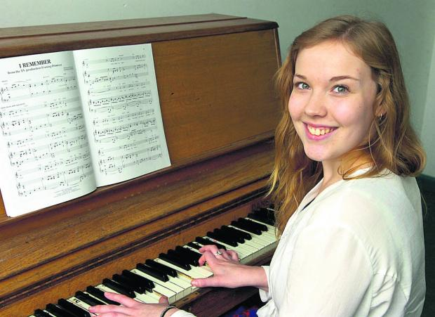 This Is Wiltshire: Annie-Rose Cowdry sixth form student has a bursary to pay for lessons     (PM1143) By Paul Morris