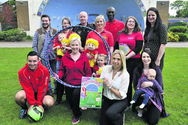 This Is Wiltshire: Promoting the Sport and Play festival in the park