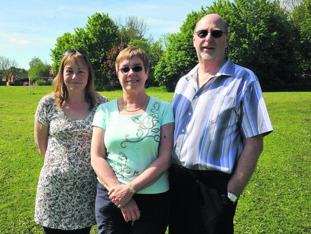 This Is Wiltshire: Concerned residents Angela Fry, Jayne Baker and David Baker