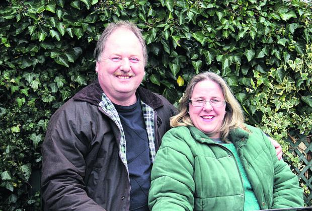 This Is Wiltshire: Elaine and Richard Dent are foster carers in Corsham for the charity Community Foster Care