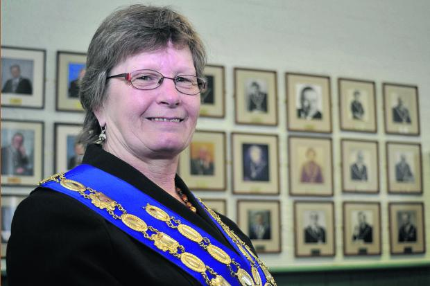 This Is Wiltshire: Westbury's new mayor Cllr Christine Mitchell Photo: Glenn Phillips (4095)