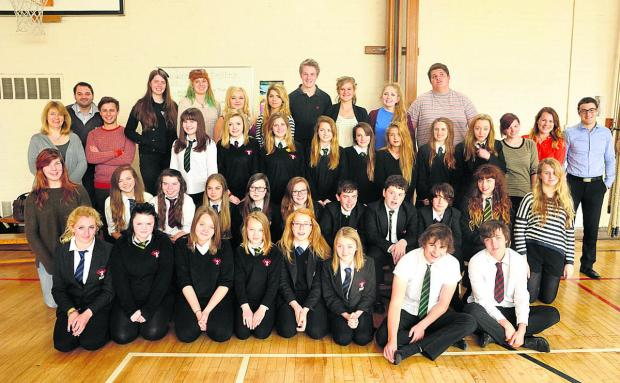 This Is Wiltshire: Some of the pupils and staff who are heading to Disneyland