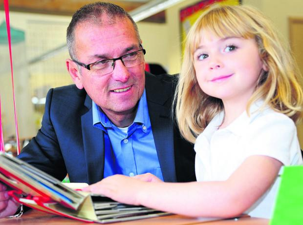 This Is Wiltshire: Nick Capstick with Croft School pupil Ella