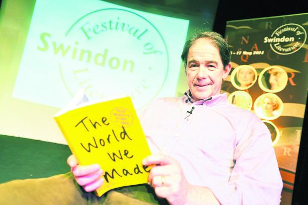This Is Wiltshire: Jonathon Porritt at the Swindon Festival of Literature yesterday