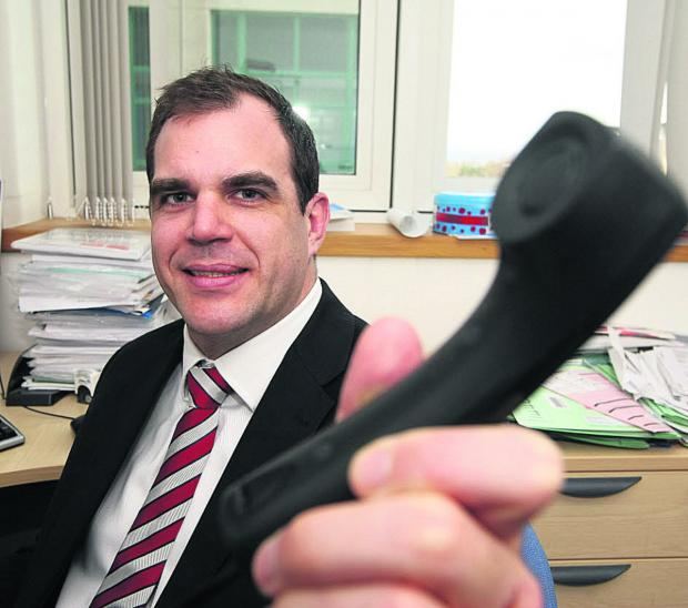 This Is Wiltshire: David Moss, the deputy general manager for outpatients at GWH