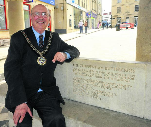 This Is Wiltshire: Chippenham's new mayor John Scragg was arrested by Russian police