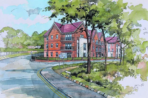 This Is Wiltshire: An artist's impression of the retirement flats McCarthy & Stone want to build in Marlborough