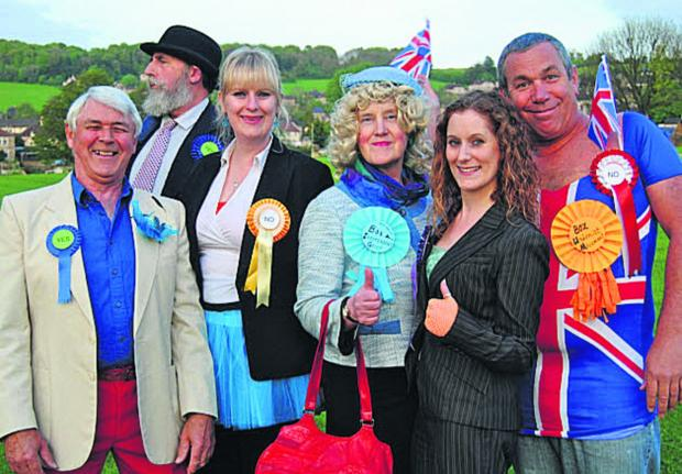 This Is Wiltshire: Box independence 'campaigners' Barry Sims, Steve Knight, Emily Knight, Kath Knight, Zoë Pearce and Mike Curd
