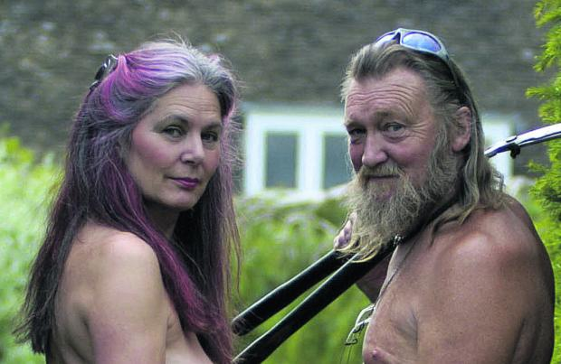 This Is Wiltshire: Naked Gardeners Barbara and Ian Pollard are getting divorced