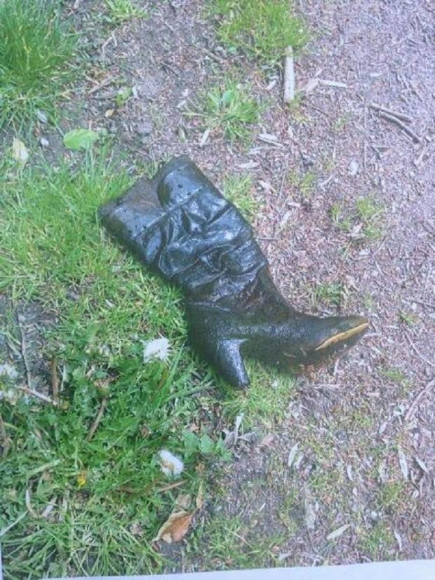 This Is Wiltshire: The first boot recovered by the police dive team