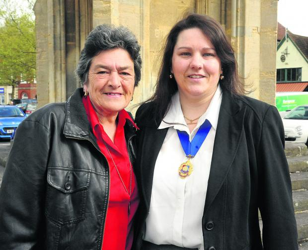 This Is Wiltshire: Soon-to-be Mayor Sarah Bridewell with her mother, former mayor Jane Burton (VS348) By VICKY SCIPIO