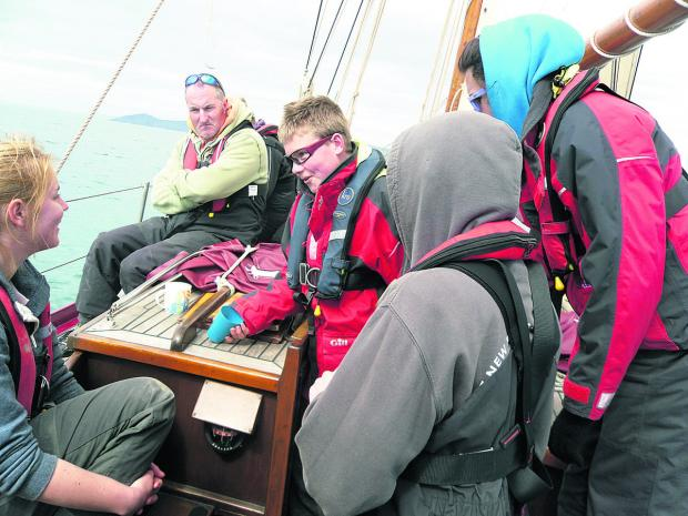 This Is Wiltshire: The young carers on their sailing trip