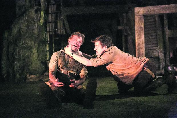 This Is Wiltshire: Peter Duncan as Jack Firebrace and George Banks as Stephen in the powerful stage adaptation of Birdsong