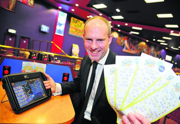 This Is Wiltshire: MP Justin Tomlinson joined bingo players on Friday to celebrate the success of the boost bingo campaign and the reduction of bingo duty at Gala Club