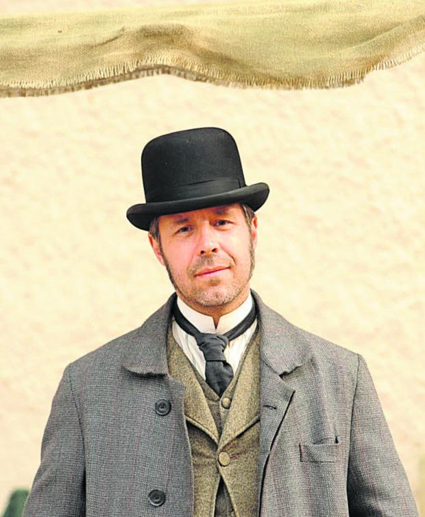 This Is Wiltshire: Paddy Considine, in Corsham for filming of ITV Victorian drama The Suspicions of Mr Whicher