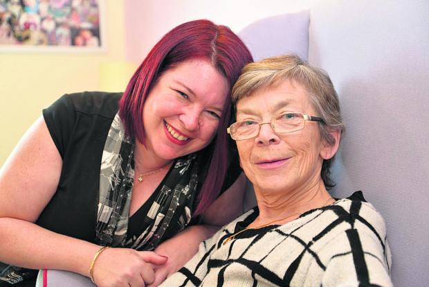 This Is Wiltshire: Amanda Franks and her mum Cathy Davidson. Amanda is organising a fundraising gig to help fight Alzheimer's