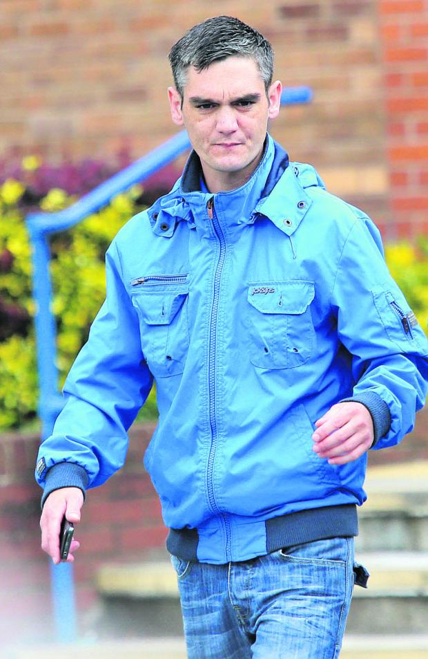 This Is Wiltshire: Gary Turner, pictured leaving Swindon Magistrates Court yesterday