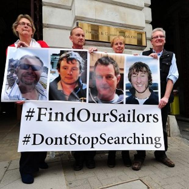 This Is Wiltshire: Relatives of the missing yachtsmen press for the search to continue