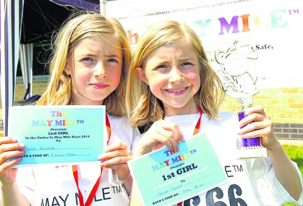 This Is Wiltshire: Twins Ninka and Josie Ruker secured the top spots in the Under-9s race