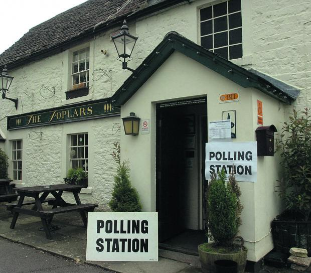 This Is Wiltshire: The Poplars Inn in Wingfield, near Trowbridge, will be a polling station today between 7am and 10pm