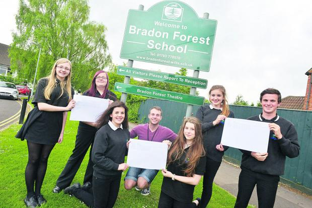 This Is Wiltshire: Ollie Phipps, centre, with Bradon Forest School pupils and their petition