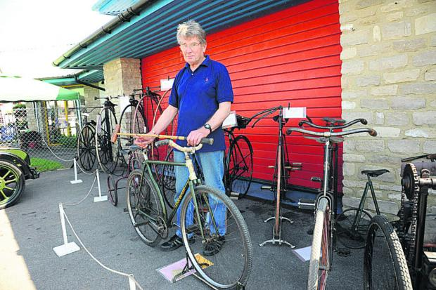 This Is Wiltshire: Brian Mortimer with some of his vintage bicycles