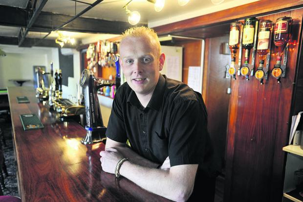 This Is Wiltshire: Daniel Grace, landlord of The Unicorn pub in Melksham