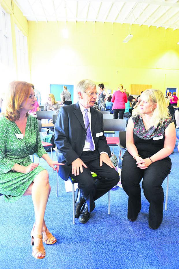 This Is Wiltshire: Mary Cosker, Rex Webb and Kim Swinden at the Womb To Womanhood conference