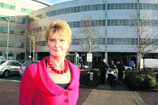 This Is Wiltshire: Great Western Hospital Chief Nurse Hilary Walker at the hospital