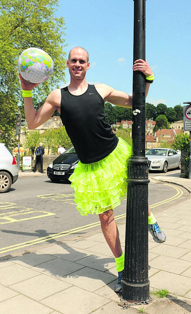 This Is Wiltshire: Former St Laurence School pupil Ben Hammond is eyeing a 17,643-mile danceathon for UNICEF
