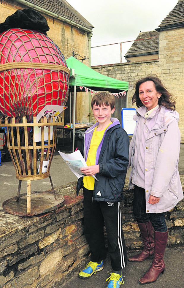 This Is Wiltshire: Julie and Michael Callam of Trowbridge at the Lacock Scarecrow Trail