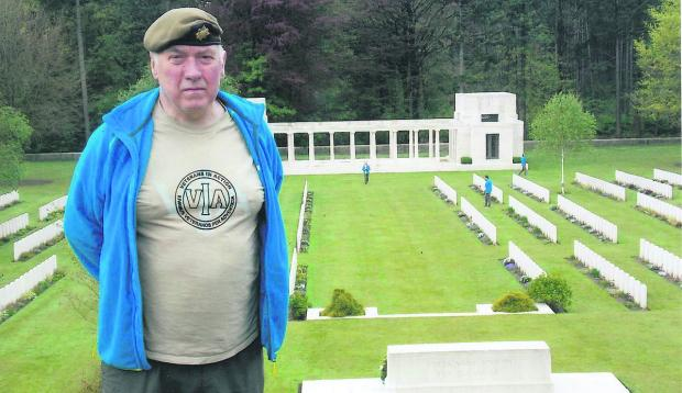 This Is Wiltshire: Jim Archer at the Polygon Wood Cemetery in Belgium