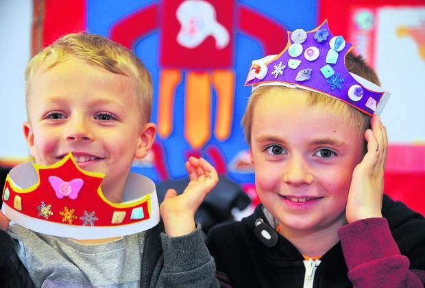 This Is Wiltshire: The Hi5 Camp at the Haydon Centre is running half term activities for children. From left, Callum and Corey