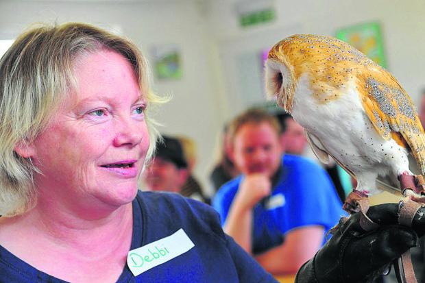 This Is Wiltshire: Debbi Pullen with one of the owls