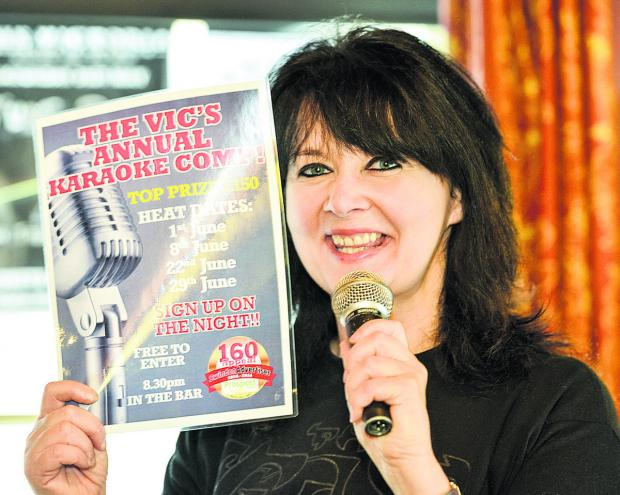 This Is Wiltshire: Violet McLaren, of the Victoria Pub, in Victoria Road, who will be hosting a karaoke competition and