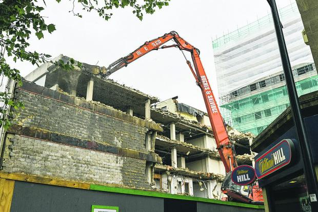 This Is Wiltshire: The demolition of Aspen House, Swindon's former register office