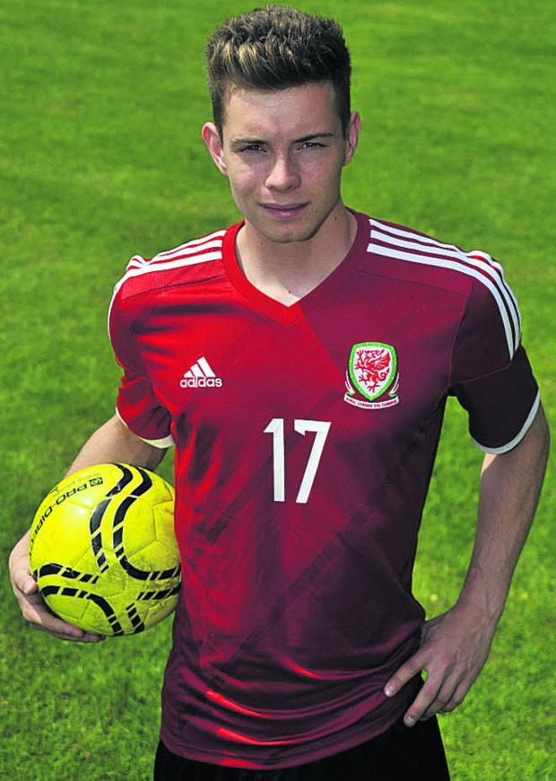 This Is Wiltshire: Alex Bray is hoping to help Wales into the U19 European Championship finals