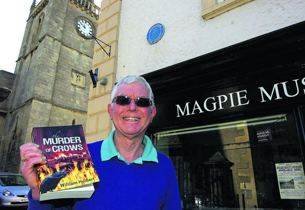This Is Wiltshire: Wil Hulbert with his book The Murder of Crows