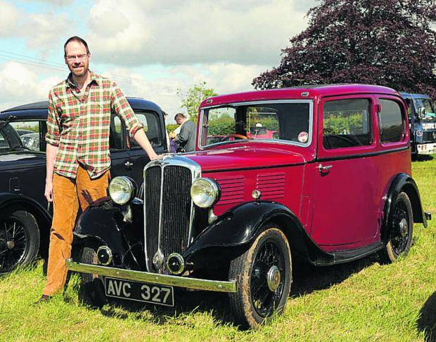 This Is Wiltshire: Warminster owner Roger Dealtry with his 1935 Standard Nine